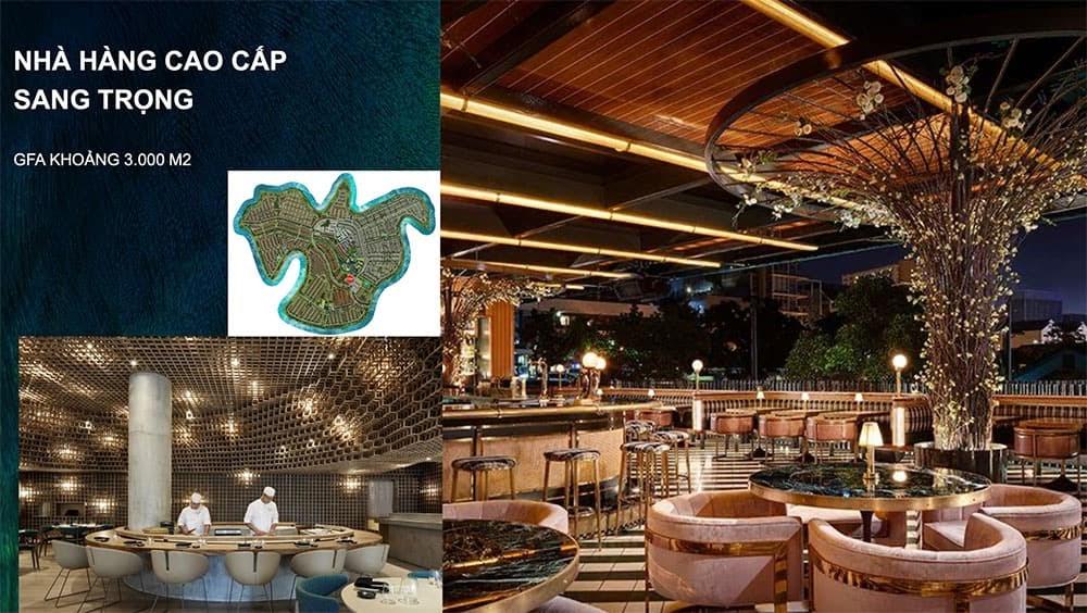 Hệ thống nhà hàng đẳng cấp, sang trọng bên trong dự ánĐảo Phượng Hoàng Aqua City