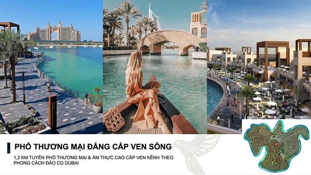 Khu phố thương mại ven sông mang phong cách Dubai