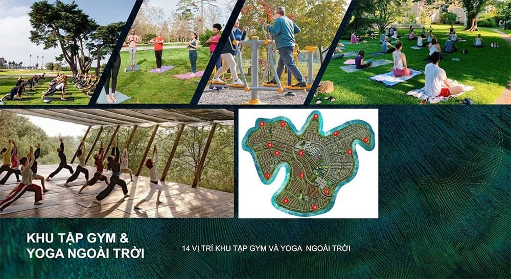 Khu tập gym và yoga để cư dân rèn luyện sức khỏe mỗi ngày