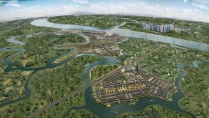 mặt bằng the valencia dự án aqua city