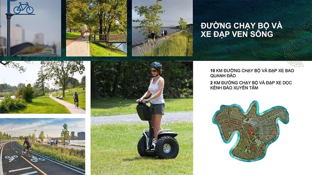 Ven sông là đường chạy bộ và khu vực đạp xe đạp